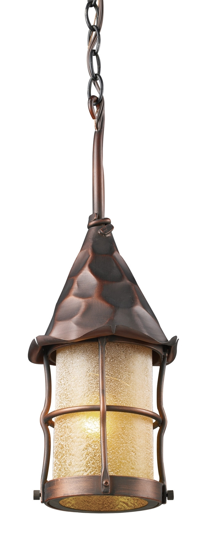 Elk Lighting 388-Ac Rustica Outdoor Hanging Lantern inside Outdoor Rustic Lanterns (Image 8 of 20)