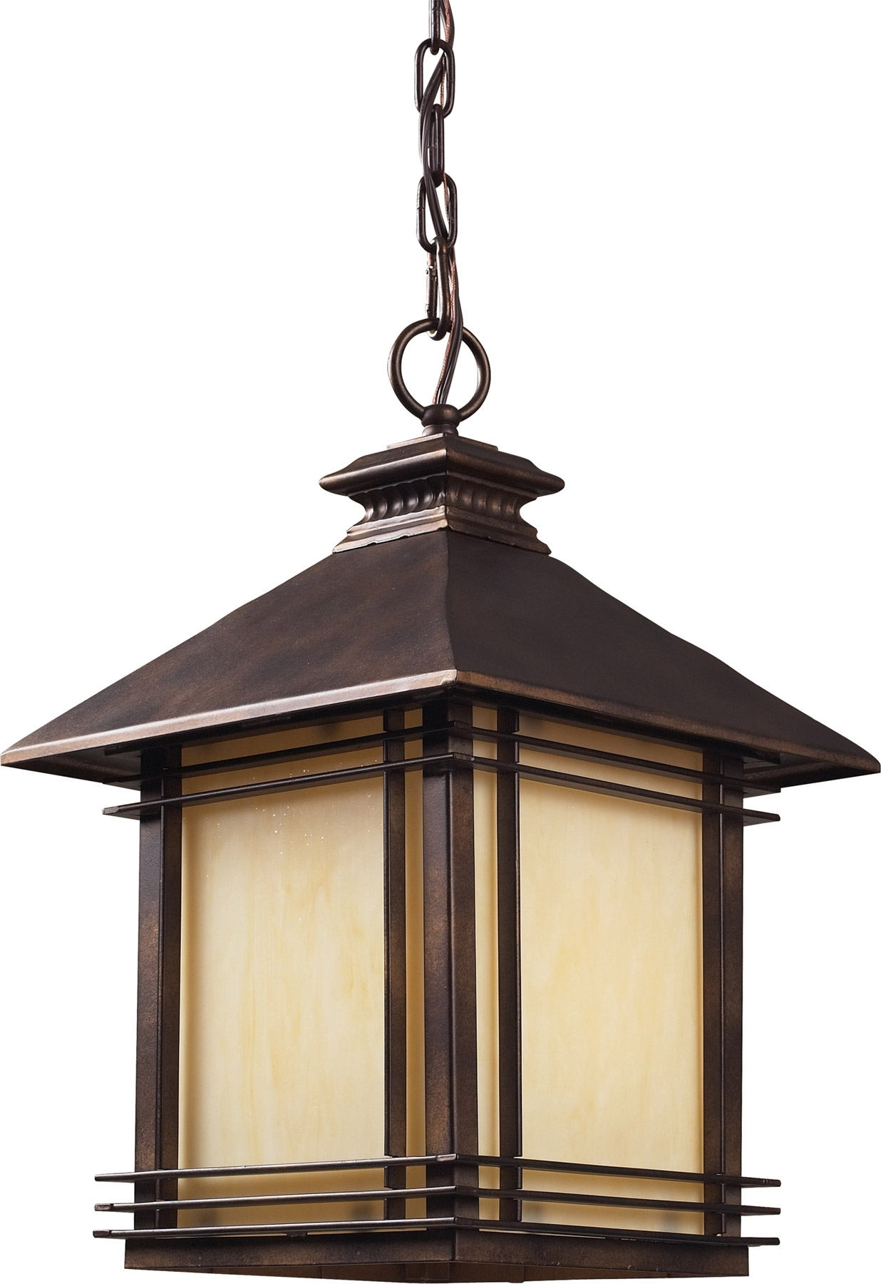 Elk Lighting 42103/1 Blackwell Outdoor Hanging Lantern in Outdoor Porch Lanterns (Image 3 of 20)