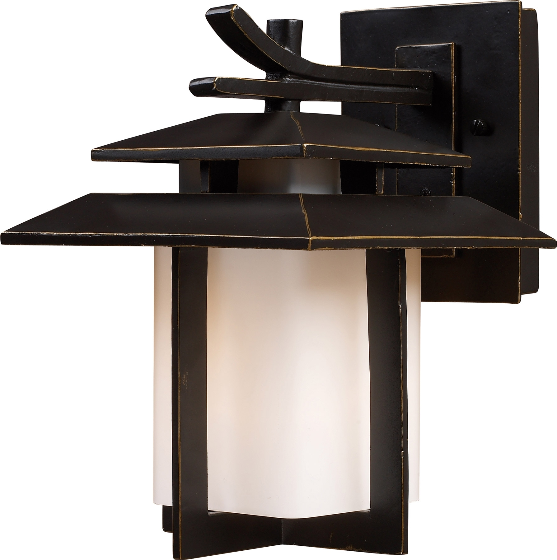 Elk Lighting 42170/1 Kanso Outdoor Wall Mount Lantern inside Outdoor Japanese Lanterns for Sale (Image 3 of 20)