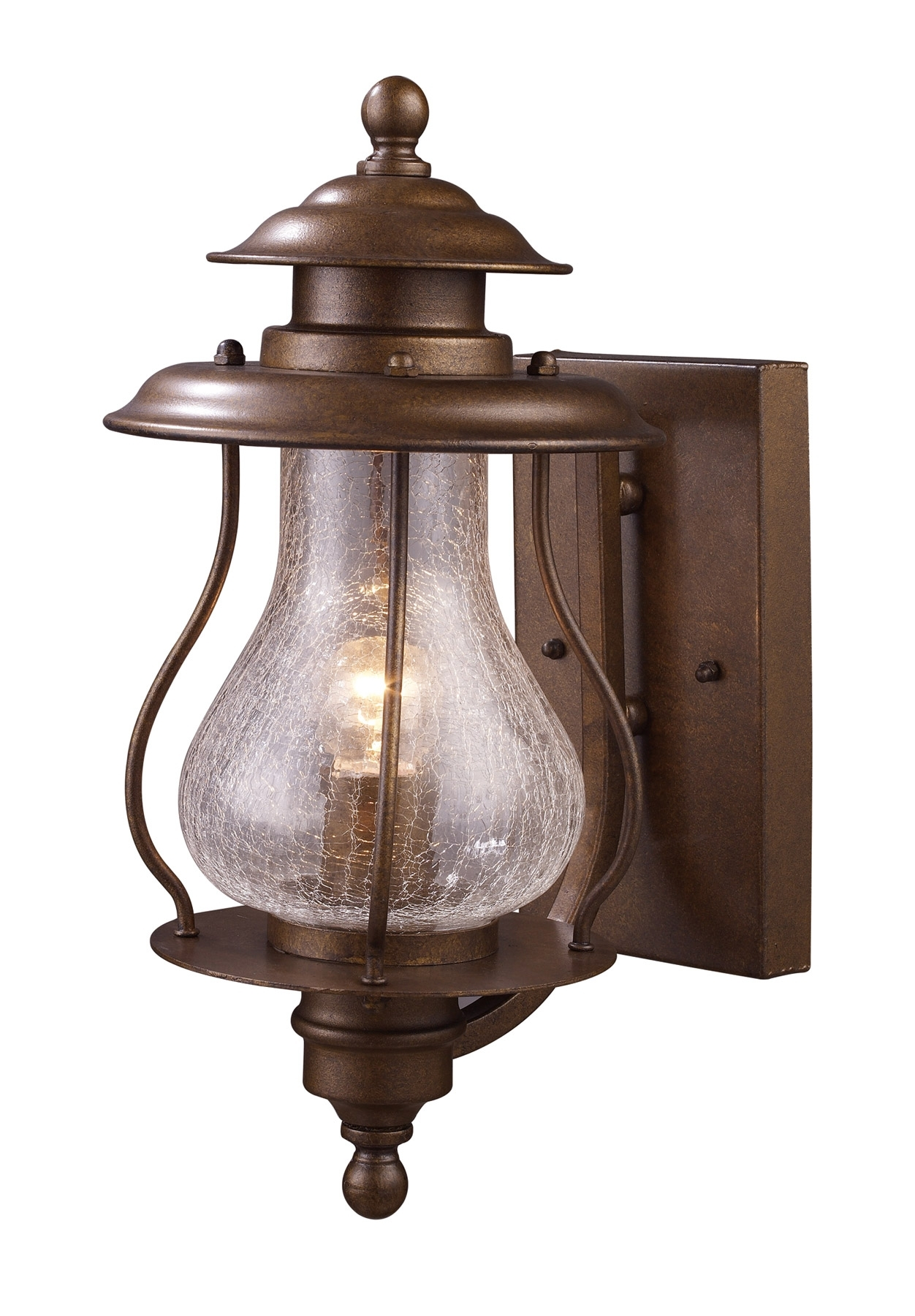 Elk Lighting 62005-1 Wikshire Outdoor Wall Mount Lantern within Outdoor Tropical Lanterns (Image 5 of 20)