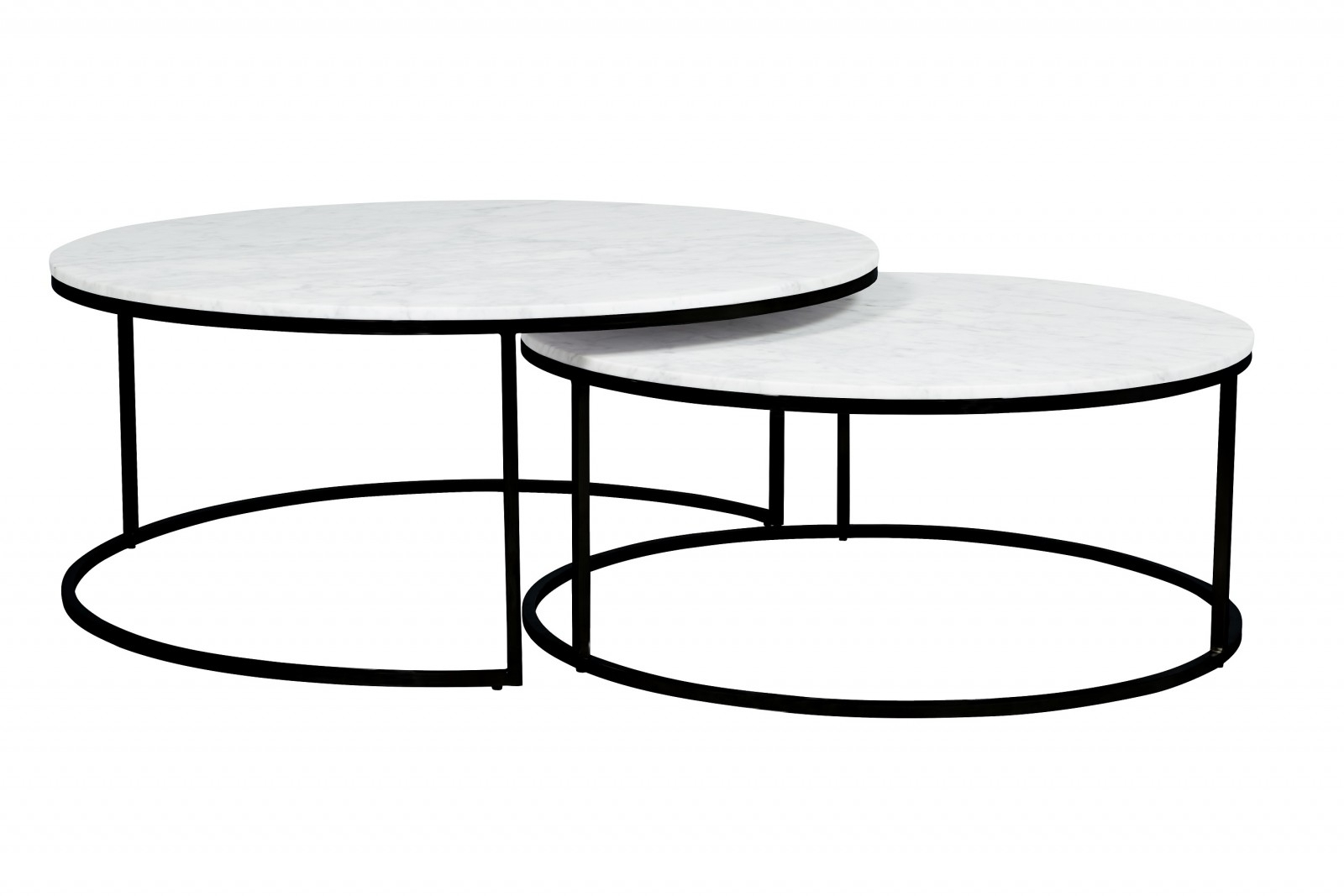 Elle Round Nest Marble Coffee Table Set | Pre Order | The Block Shop Pertaining To Set Of Nesting Coffee Tables (Gallery 26 of 30)