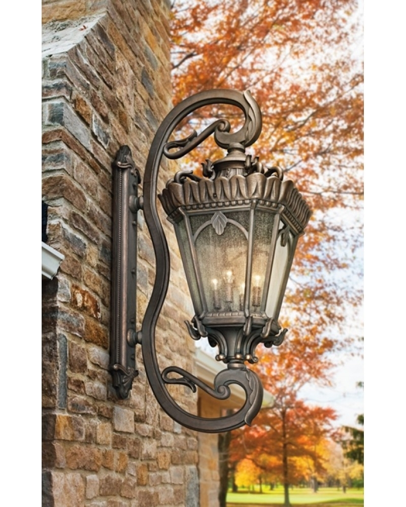 Elstead Lighting Kichler Tournai 4 Light Outdoor Grand Extra Large Within Large Outdoor Lanterns (Photo 19 of 20)