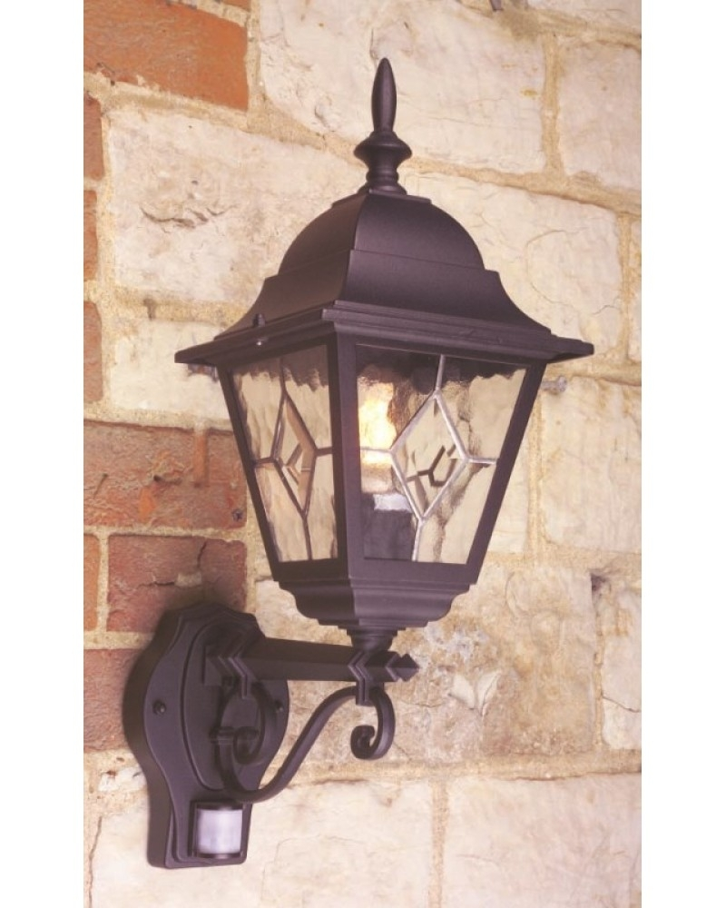 Elstead Lighting Norfolk 1 Light Outdoor Security Wall Lantern In throughout Outdoor Pir Lanterns (Image 5 of 20)