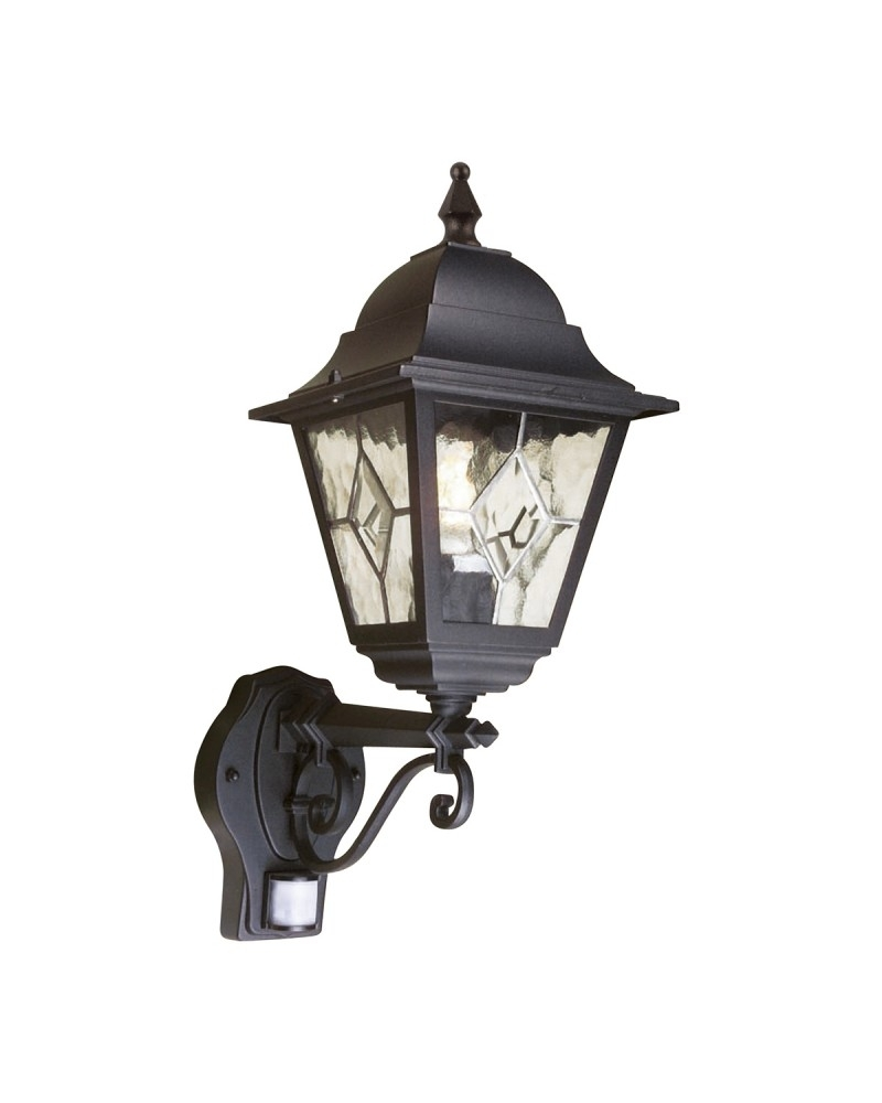 Elstead Lighting Norfolk 1 Light Outdoor Security Wall Lantern In within Outdoor Lanterns With Pir (Image 6 of 20)