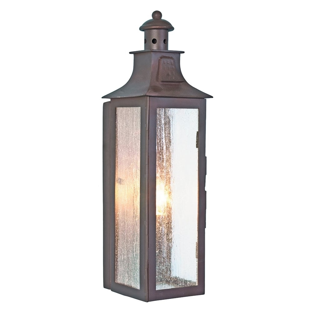Elstead Lighting Stow Wrought Iron Outdoor Wall Light - Fitting Type in Italian Outdoor Lanterns (Image 3 of 20)