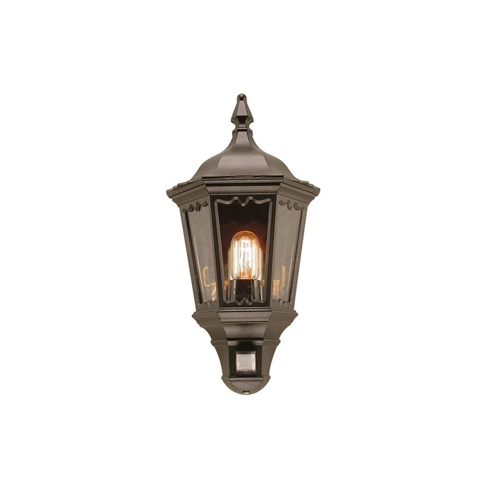 Elstead Medstead Outdoor Pir Half Wall Lantern In Black Finish Md7 With Outdoor Pir Lanterns (Photo 10 of 20)