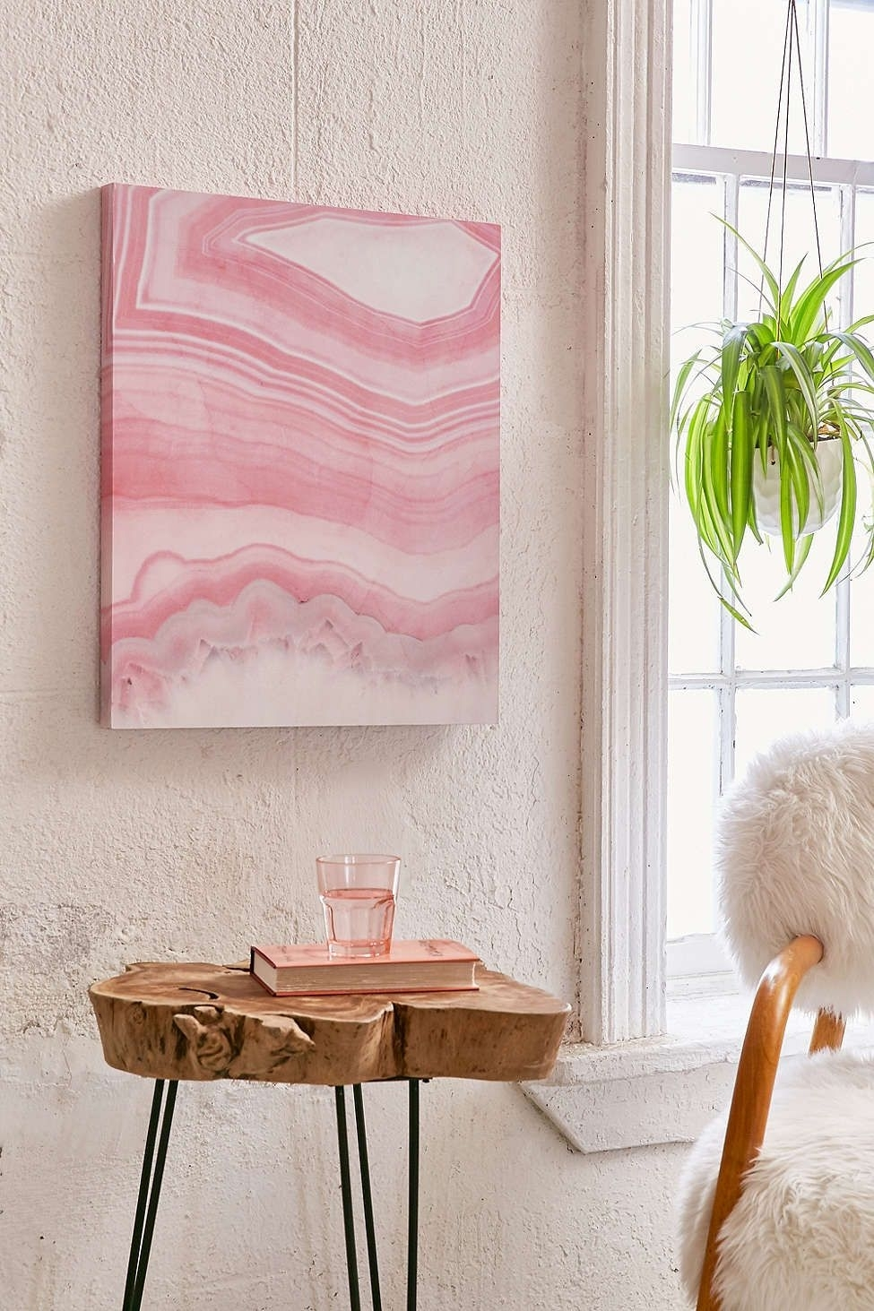 Emanuela Carratoni For Deny Sweet Pink Agate Canvas Wall Art | Pink With Regard To Agate Wall Art (Photo 9 of 20)