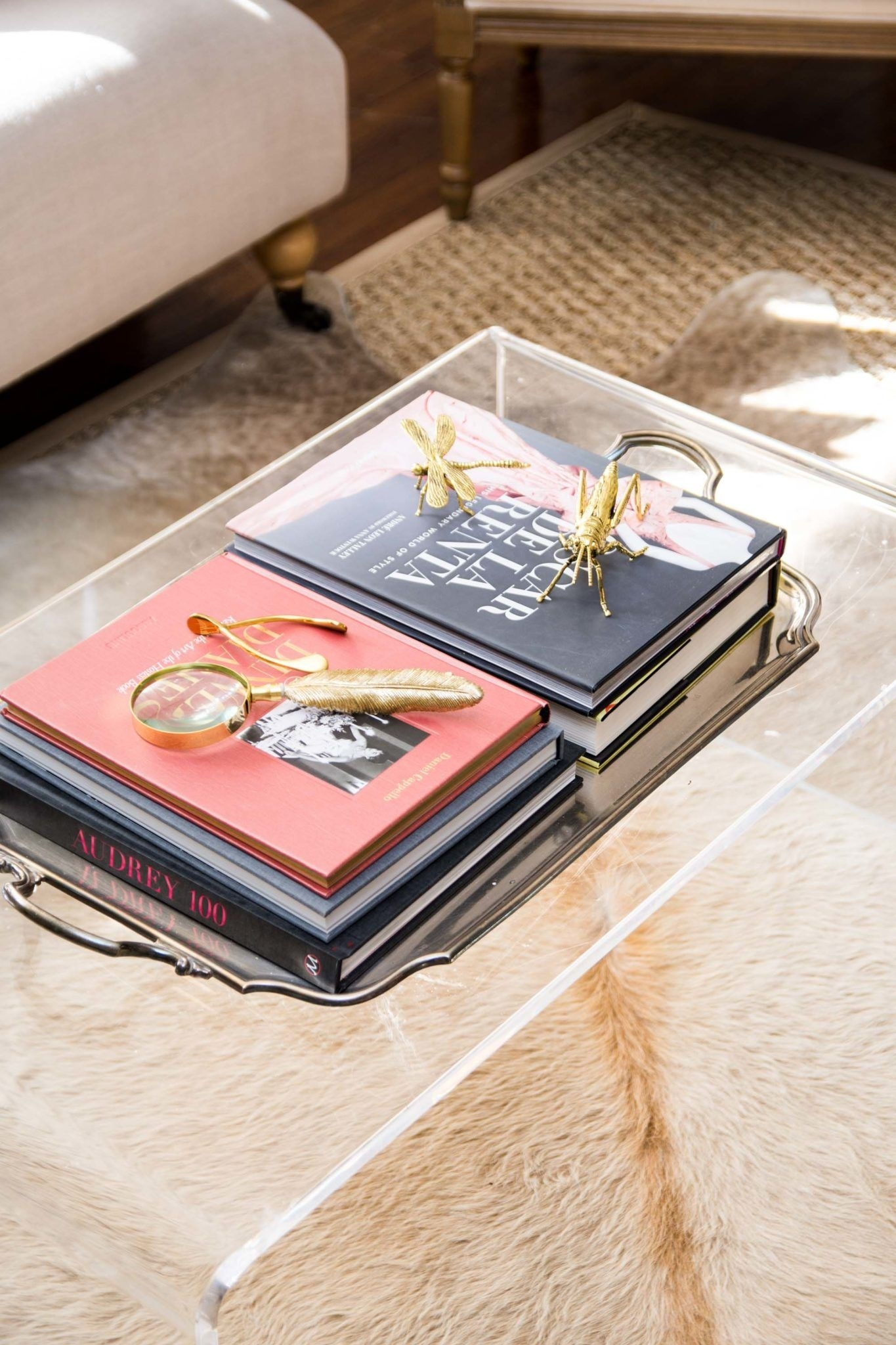 Embracing Blush Decor In The Living Room | Pinterest | Lucite Coffee Throughout Stately Acrylic Coffee Tables (View 11 of 30)