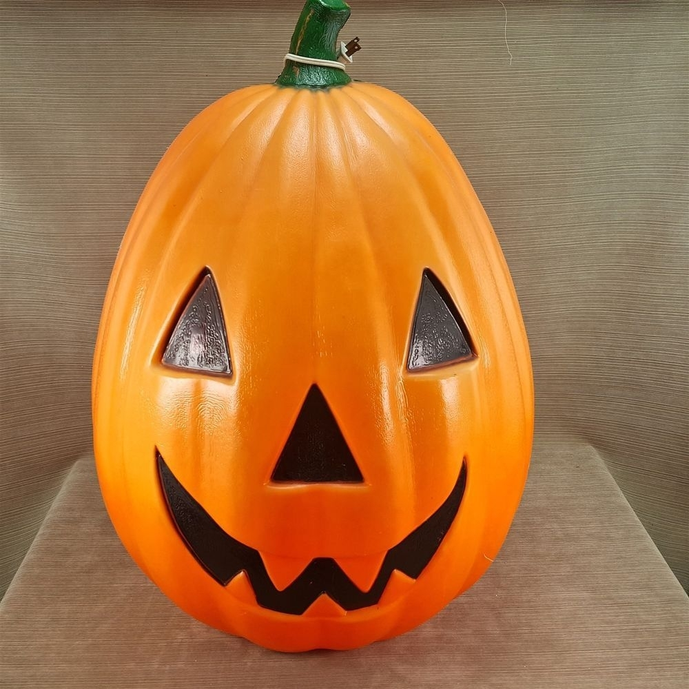 "Empire Blow Mold 30"" Pumpkin Jack-O-Lantern Halloween Outdoor Light with Outdoor Pumpkin Lanterns (Image 9 of 20)"