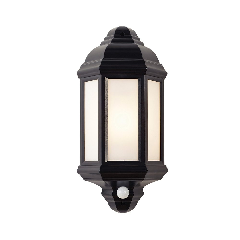 Endon El 40115 Enluce Black Outdoor Wall Lantern With Pir   Lighting Regarding Outdoor Pir Lanterns (Photo 19 of 20)