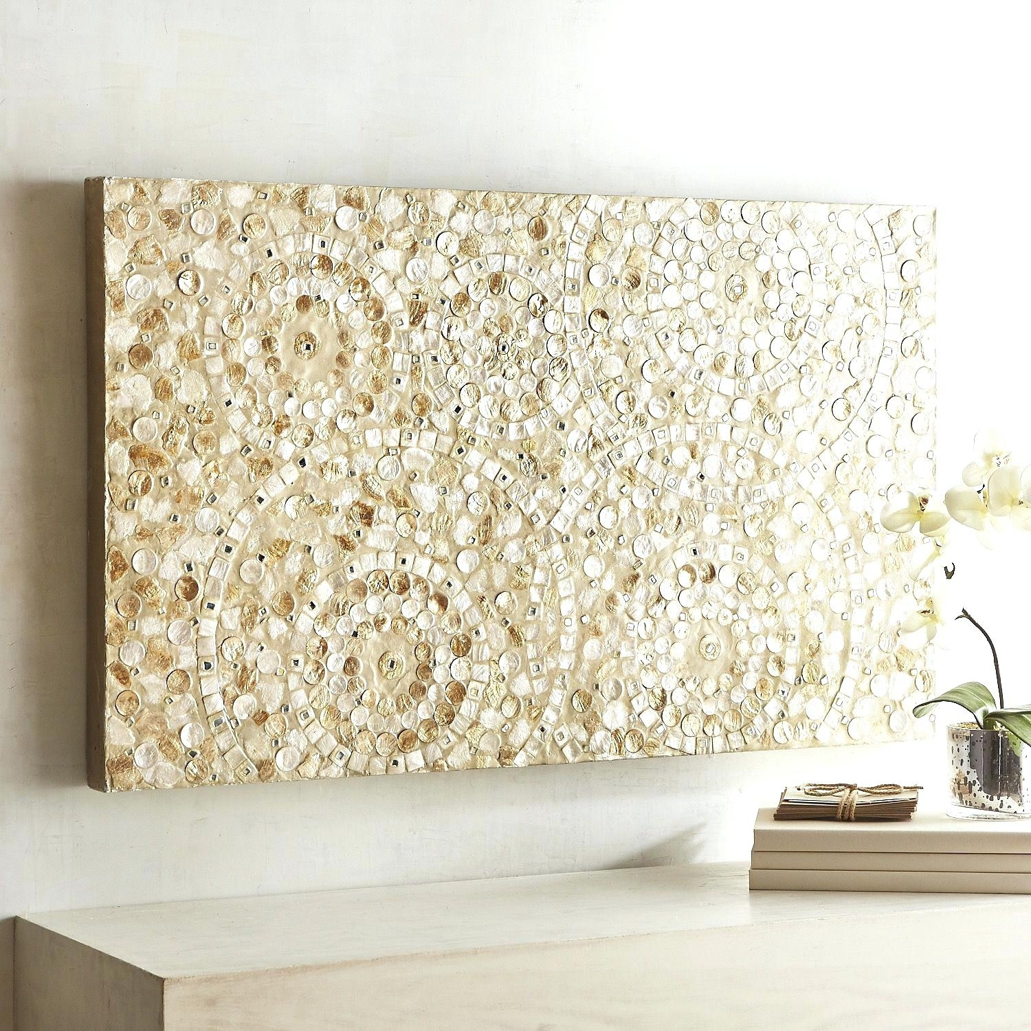 Enjoyable Design Ideas Capiz Wall Art Com Shell Fish Bowl Flower In West Elm Wall Art (View 14 of 20)