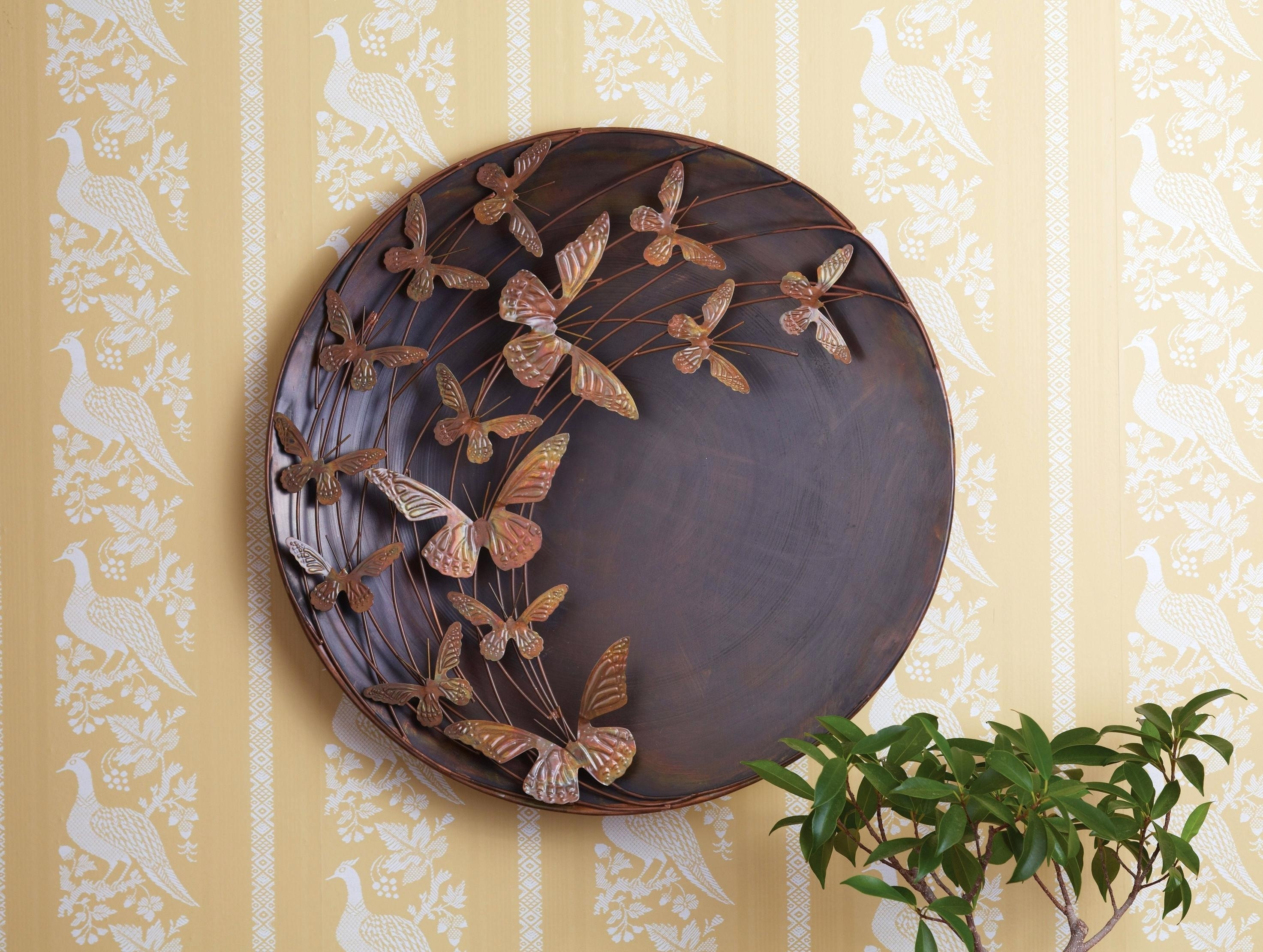 Enthralling Wall Outdoor Metal Wall Art Large Butterfly Flame for Large Outdoor Metal Wall Art (Image 4 of 20)
