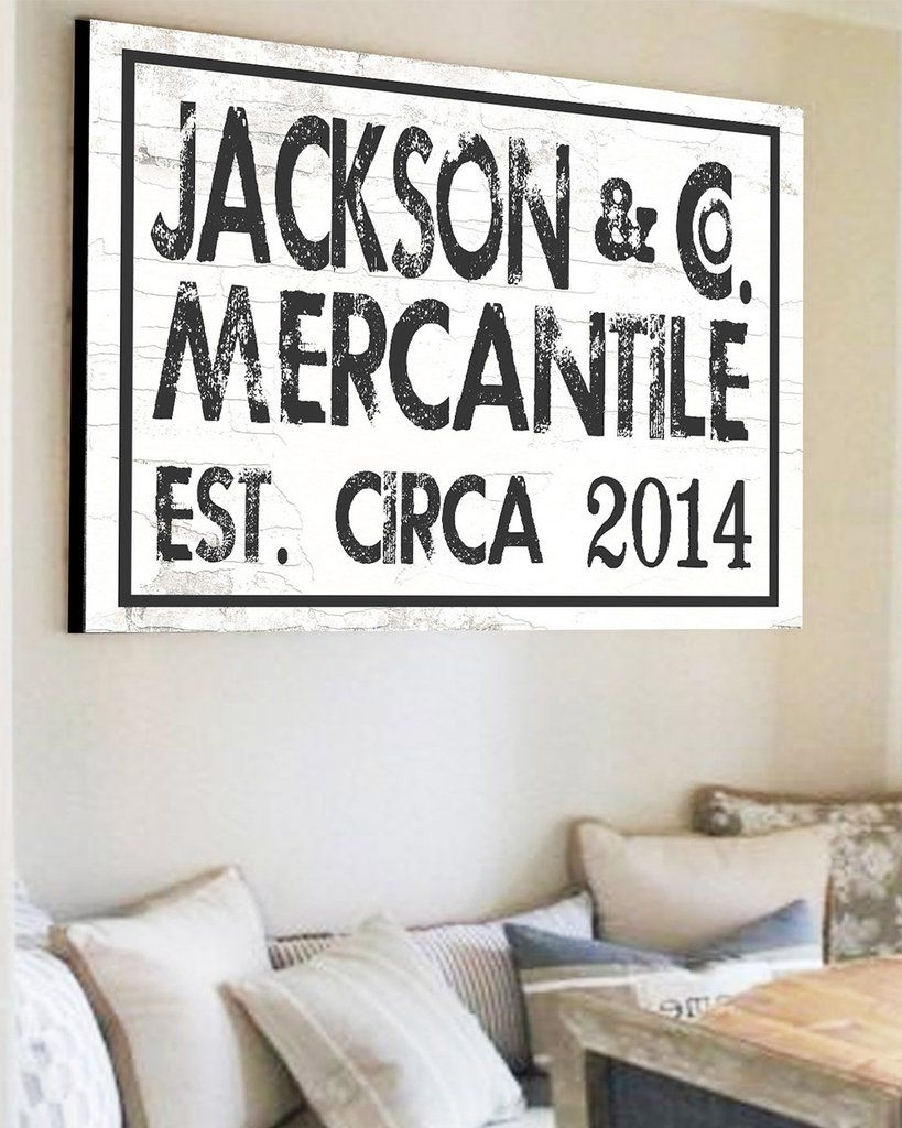 Est Family Name Sign   Custom Farmhouse Wall Decor | Farmhouse Wall With Regard To Family Name Wall Art (Photo 17 of 20)