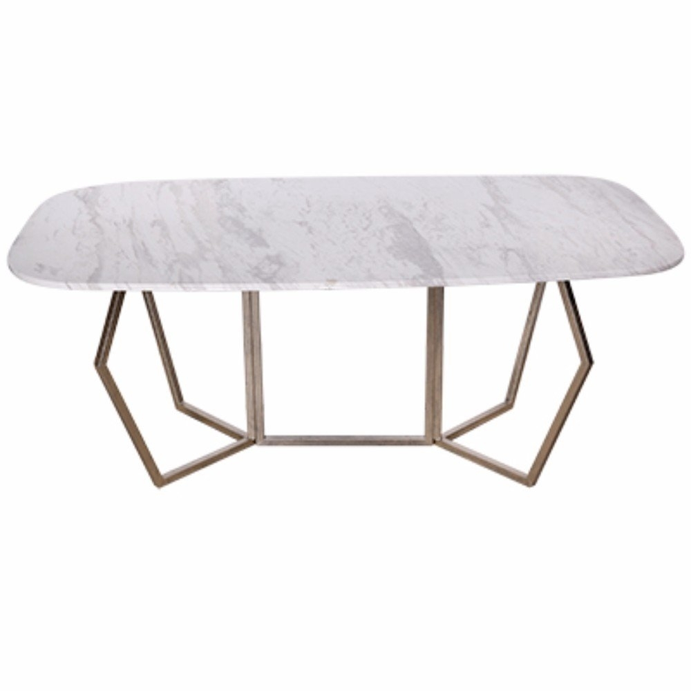Everly Quinn Chancery Ultra-Modern Marble Coffee Table | Wayfair for Modern Marble Iron Coffee Tables (Image 10 of 30)