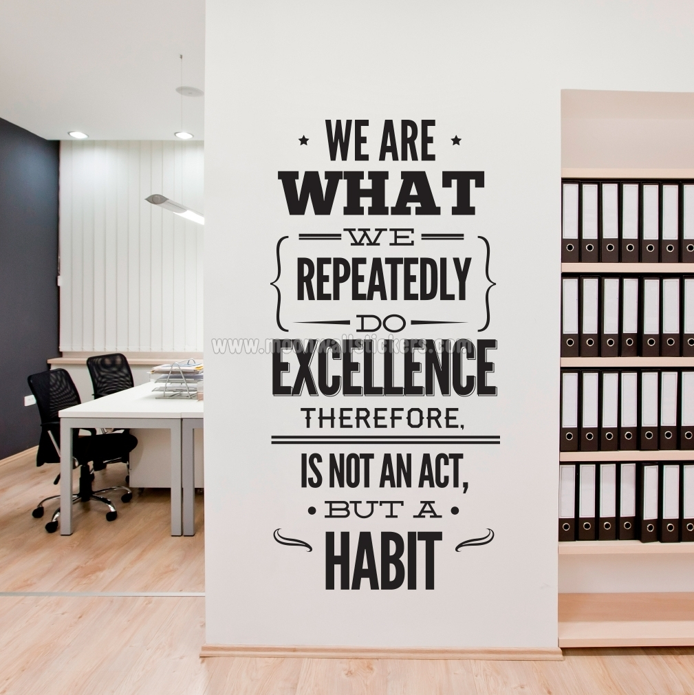 Excellence Office Decor Wall Sticker   Moonwallstickers Throughout Office Wall Art (Photo 3 of 20)