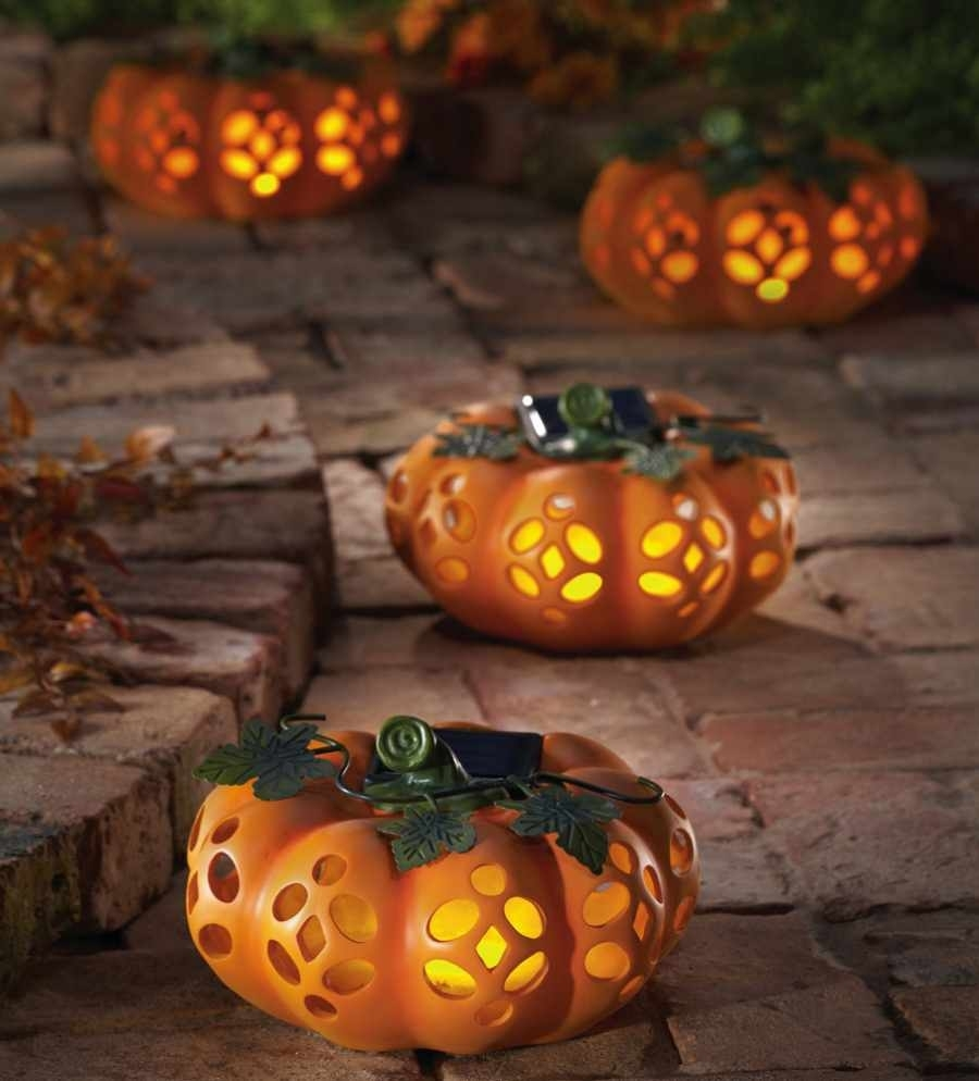 Exciting Outdoor Halloween Decoration Ideas Presenting Artificial with regard to Outdoor Pumpkin Lanterns (Image 10 of 20)