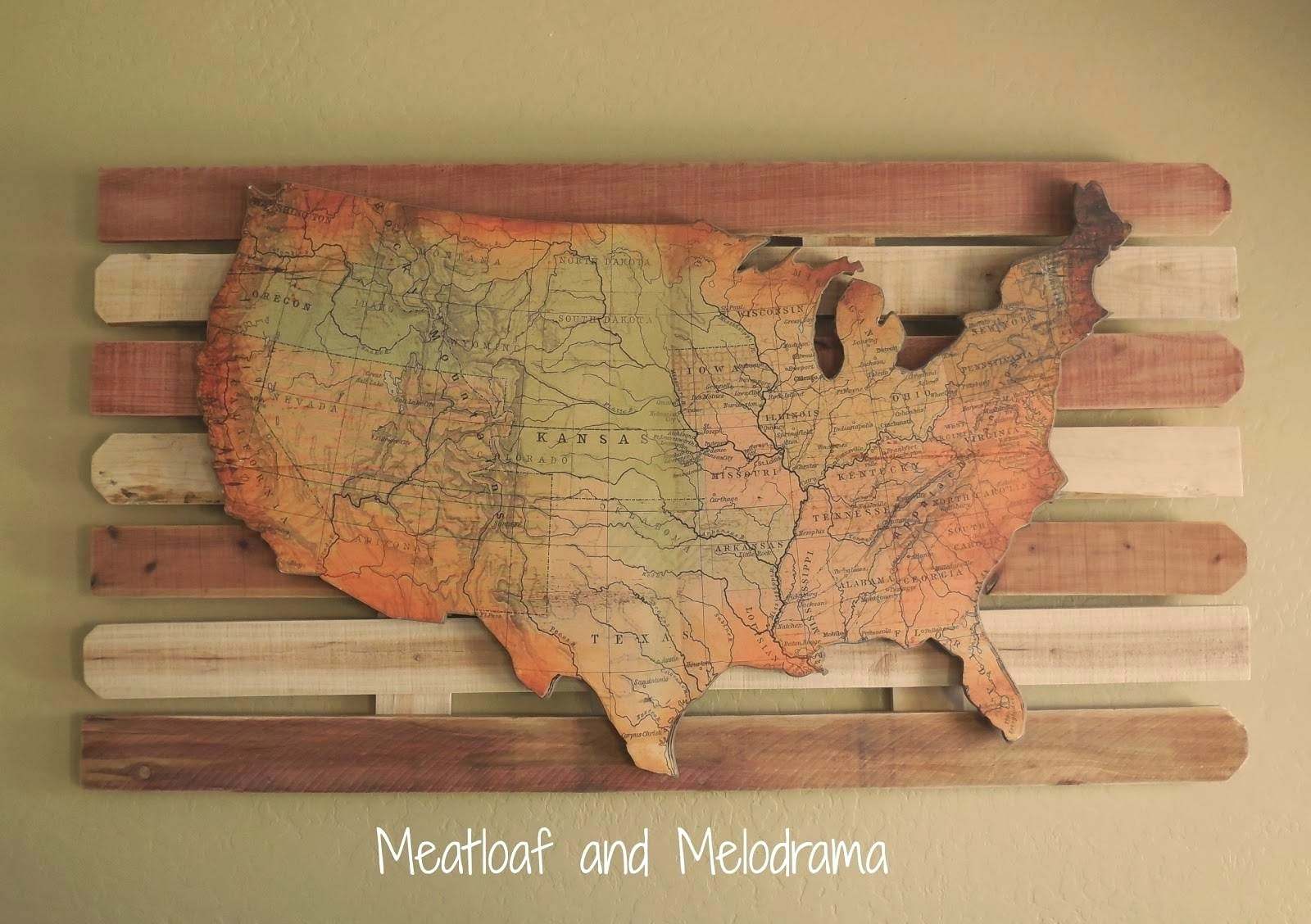 Explore Photos Of Usa Map Wall Art Showing 4 20 For Wooden United inside Usa Map Wall Art (Image 4 of 20)