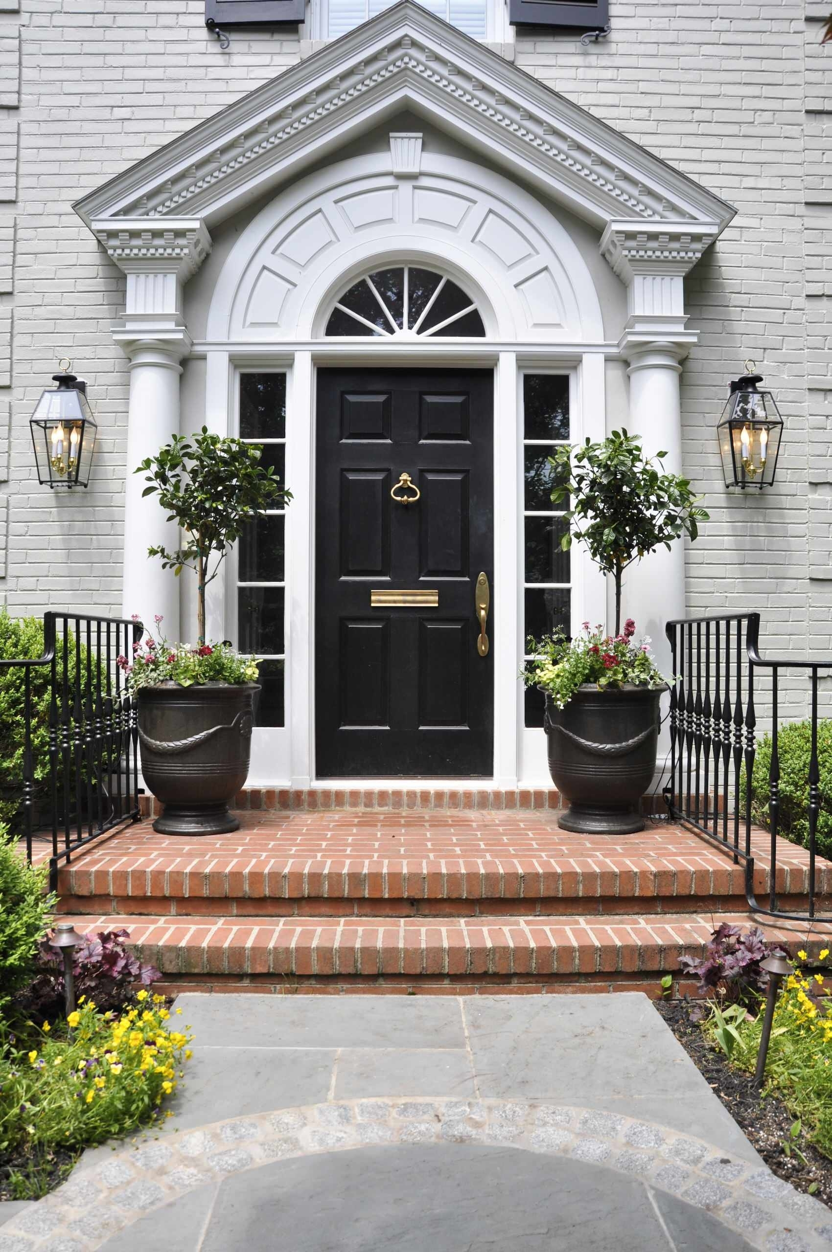 Exterior Design: Decorating With Lanterns And Entrance Pots Also with regard to Outdoor Entrance Lanterns (Image 5 of 20)