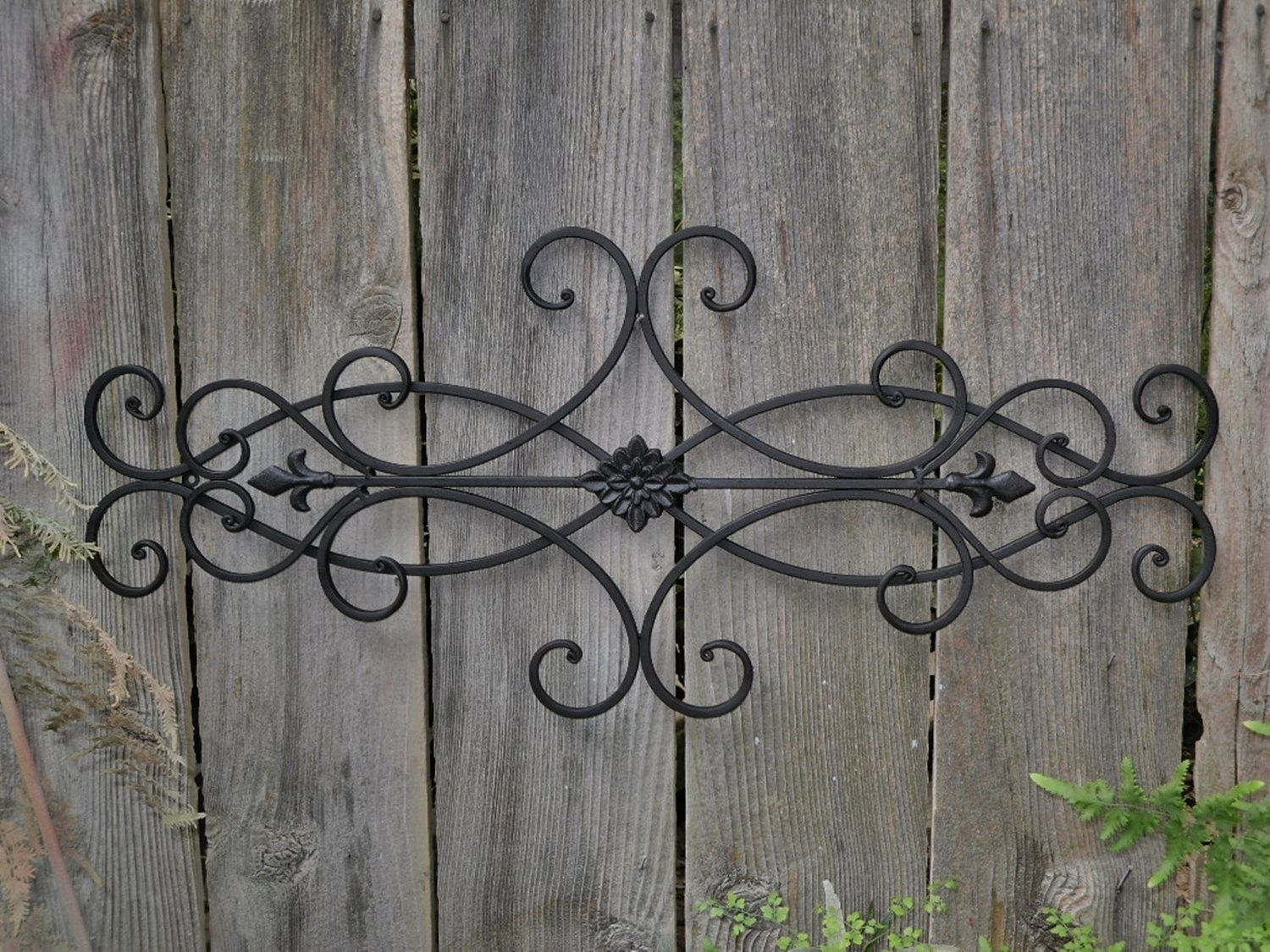 Exterior Wall Art | Wall Decor Indoor Outdoor Cottage Style Fleur De Throughout Wrought Iron Wall Art (Photo 1 of 20)