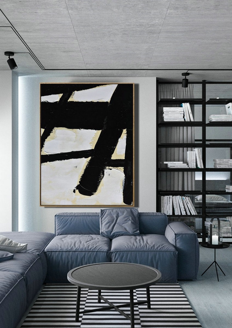 Extra Large Canvas Art,minimalist Painting On Canvas, Palette Knife Within Extra Large Wall Art (Photo 13 of 20)