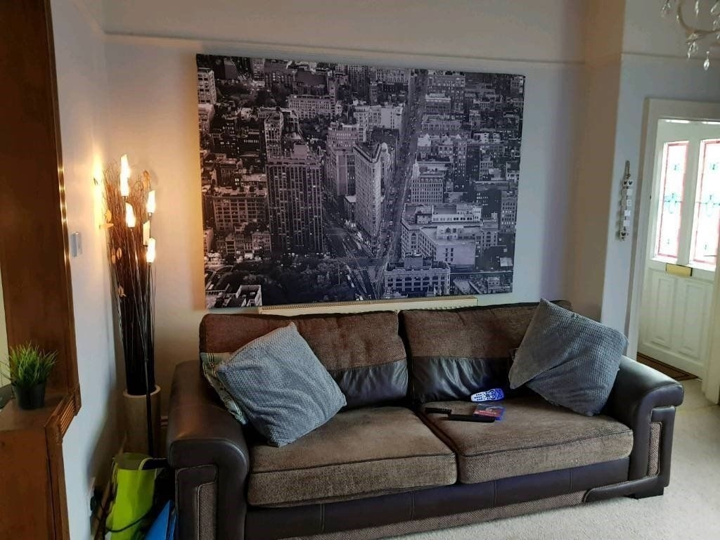Extra Large Ikea Canvas Framed Picture New York Wall Art Rrp £100 Intended For New York Wall Art (Photo 16 of 20)