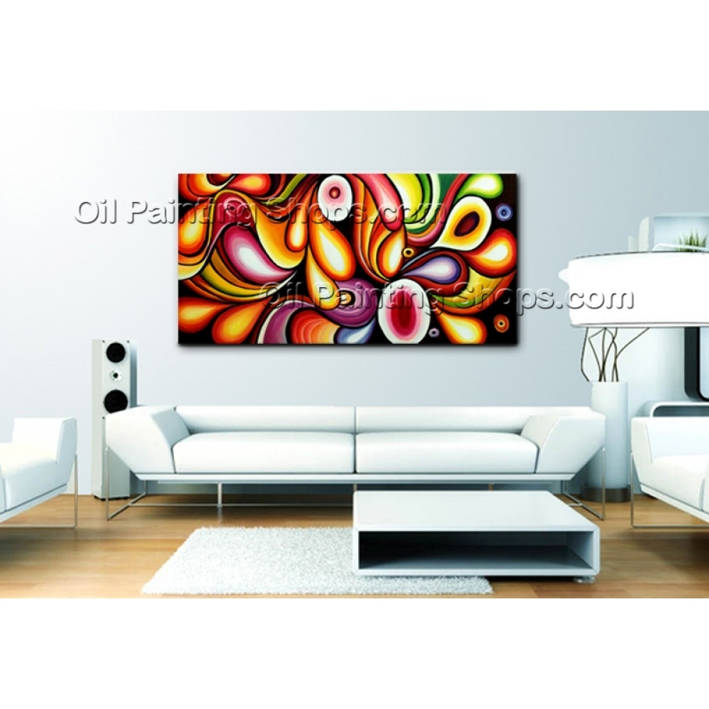Extra Large Wall Art Original Modern Abstract Oil Painting Canvas in Abstract Oil Painting Wall Art (Image 16 of 20)