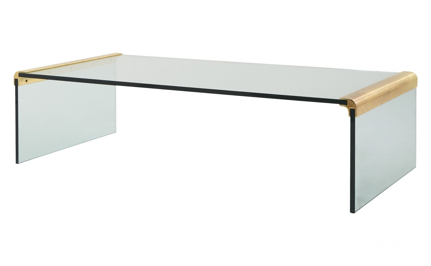 Fabulous Glass Waterfall Coffee Table With Vintage Glass Waterfall pertaining to Waterfall Coffee Tables (Image 10 of 30)