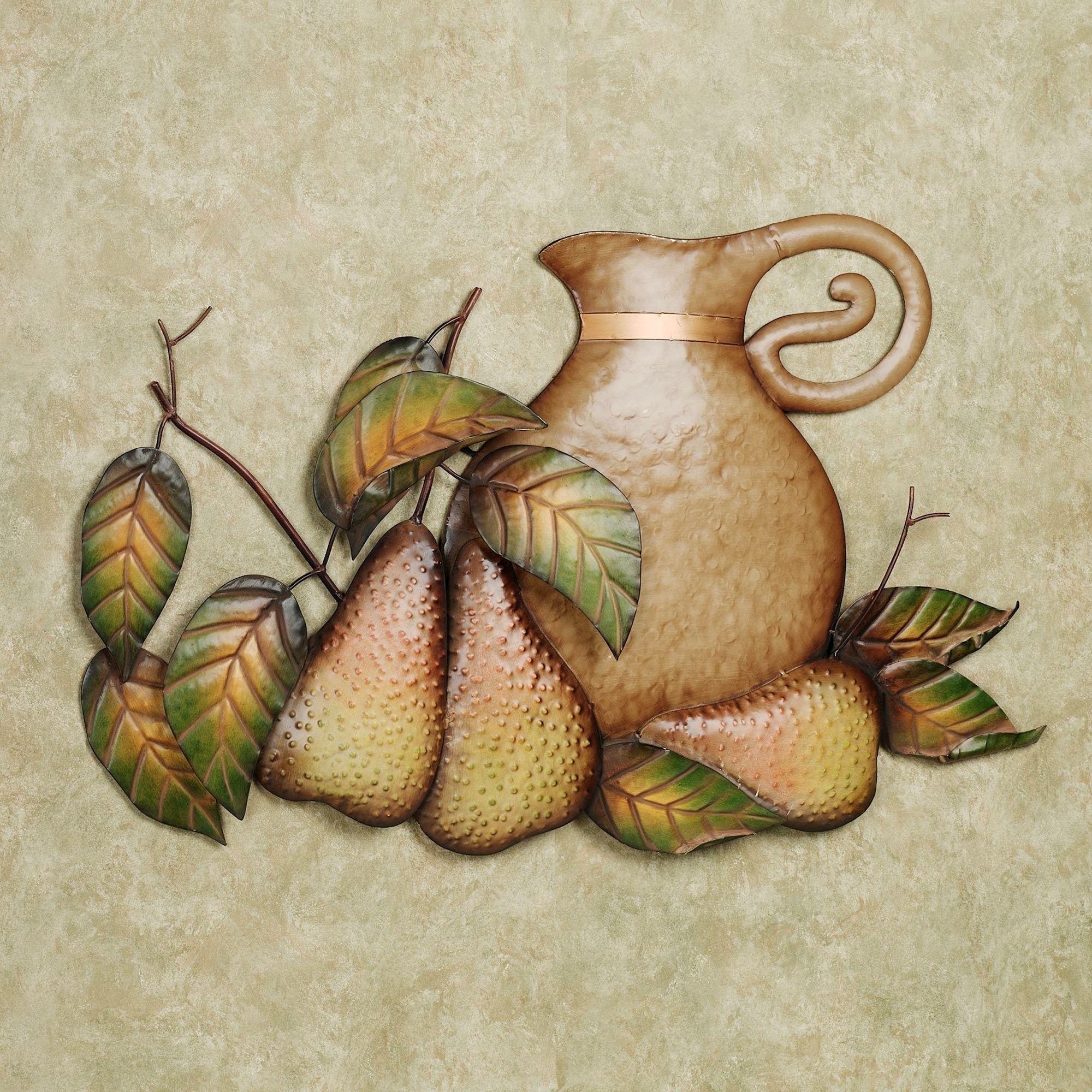 Fall Feast Pears Metal Wall Art Sculpture With Regard To Kitchen Metal Wall Art (View 15 of 20)