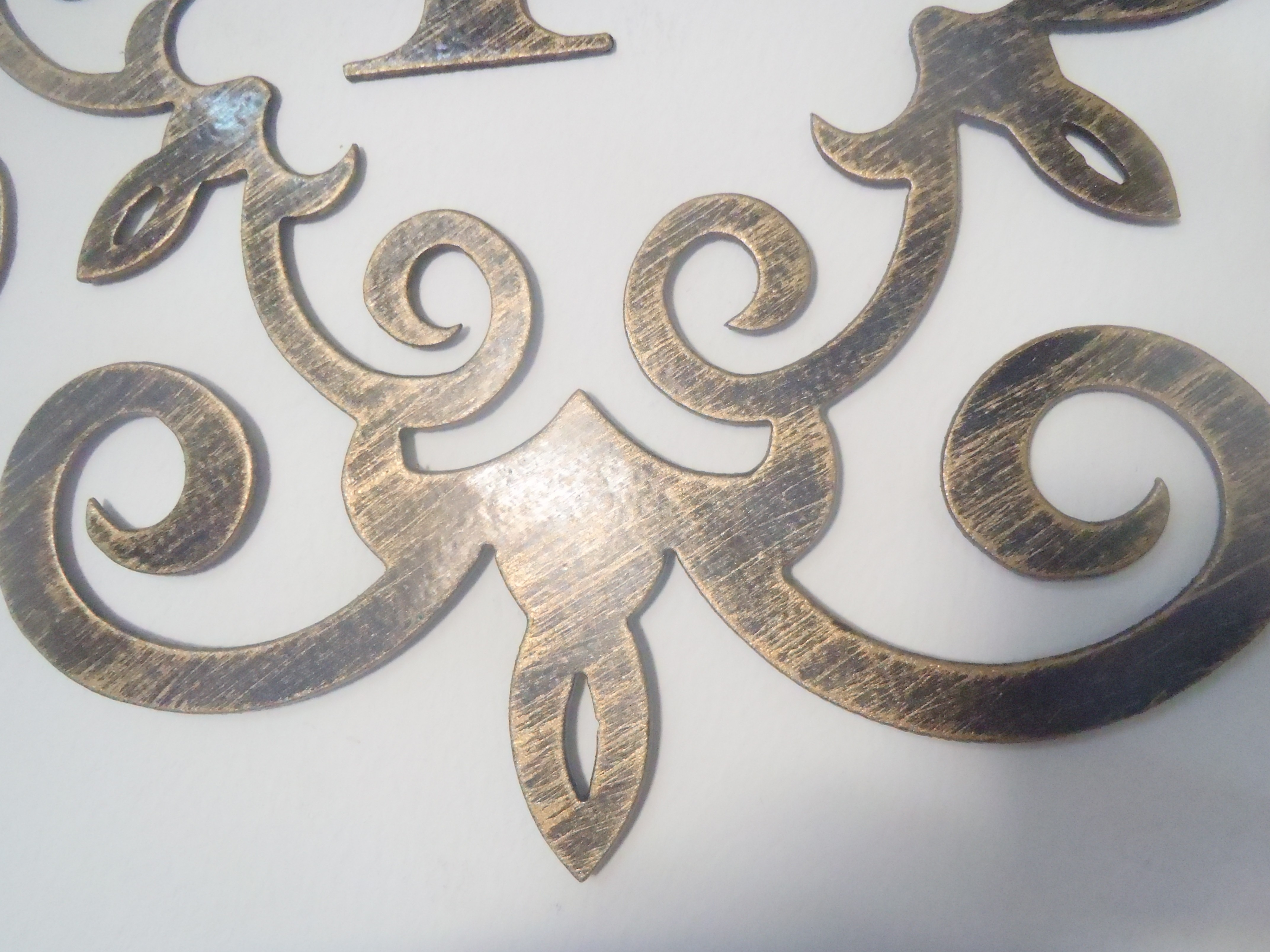 Family Initial, Monogram Inside A Metal Scroll With F Letter, 12 throughout Metal Letter Wall Art (Image 4 of 20)