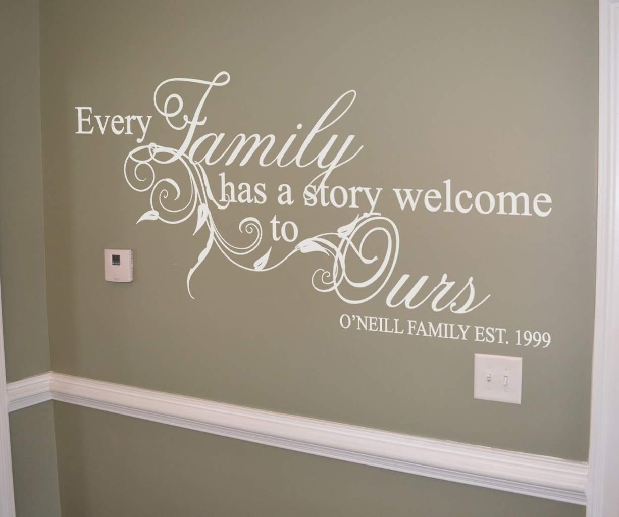 Family Story Personalised Wall Art Decal | Wall Art Decal In Family Wall Art (View 4 of 20)