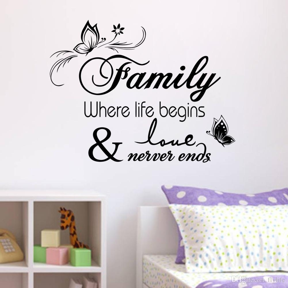 Family Vinyl Wall Quote Decal Stickers For Home Decor Wall Decal For regarding Home Decor Wall Art (Image 8 of 20)