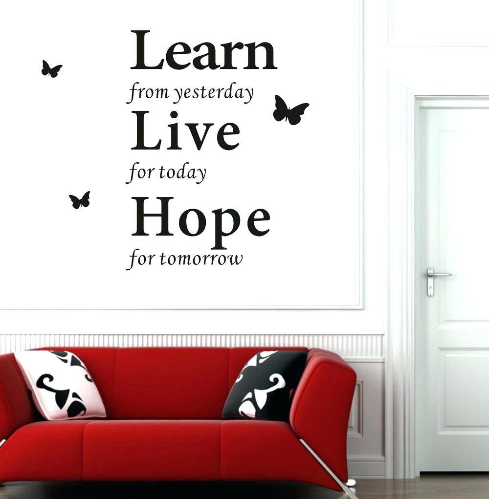 Famous Quote Wall Stickers Famous Quotes Wall Decals Wall Arts regarding Inspirational Quotes Wall Art (Image 4 of 20)