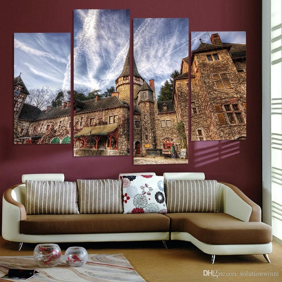 Fascinating Online Cheap Canvas Painting Art Romania Corvin Castle within Cheap Wall Art (Image 10 of 20)