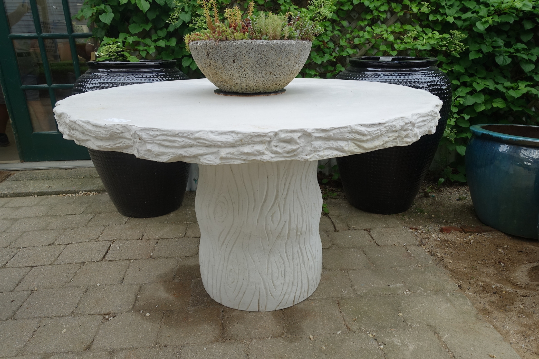 Faux Bois Concrete Round Dining Table - Mecox Gardens in Faux Bois Coffee Tables (Image 17 of 30)