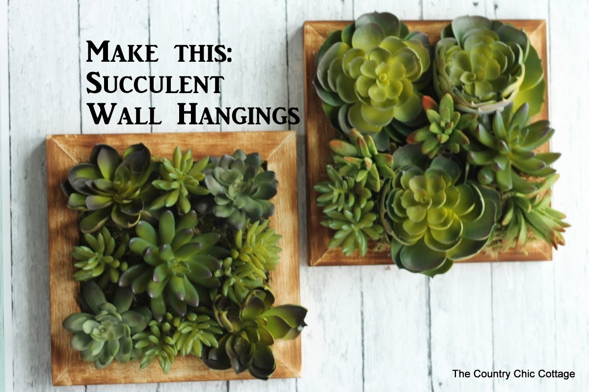 Faux Succulent Wall Hanging #craftsunder10Hoa - Youtube for Succulent Wall Art (Image 5 of 20)