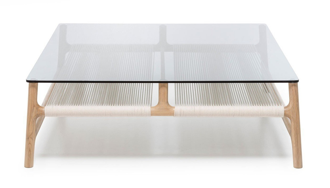 Fawn Coffee Table Oak & Grey Glass | Heal's in Contemporary Curves Coffee Tables (Image 15 of 30)
