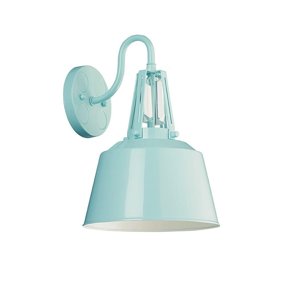 Feiss Freemont Collection 1-Light Hi Gloss Blue Outdoor Wall Lantern in Blue Outdoor Lanterns (Image 9 of 20)