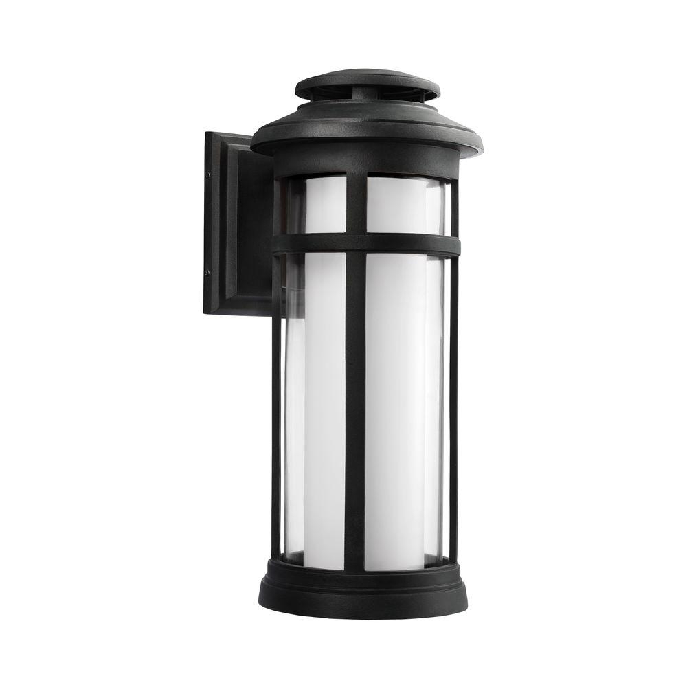 Feiss Oakfield Dark Weathered Zinc Outdoor Led Wall Fixture throughout Zinc Outdoor Lanterns (Image 7 of 20)