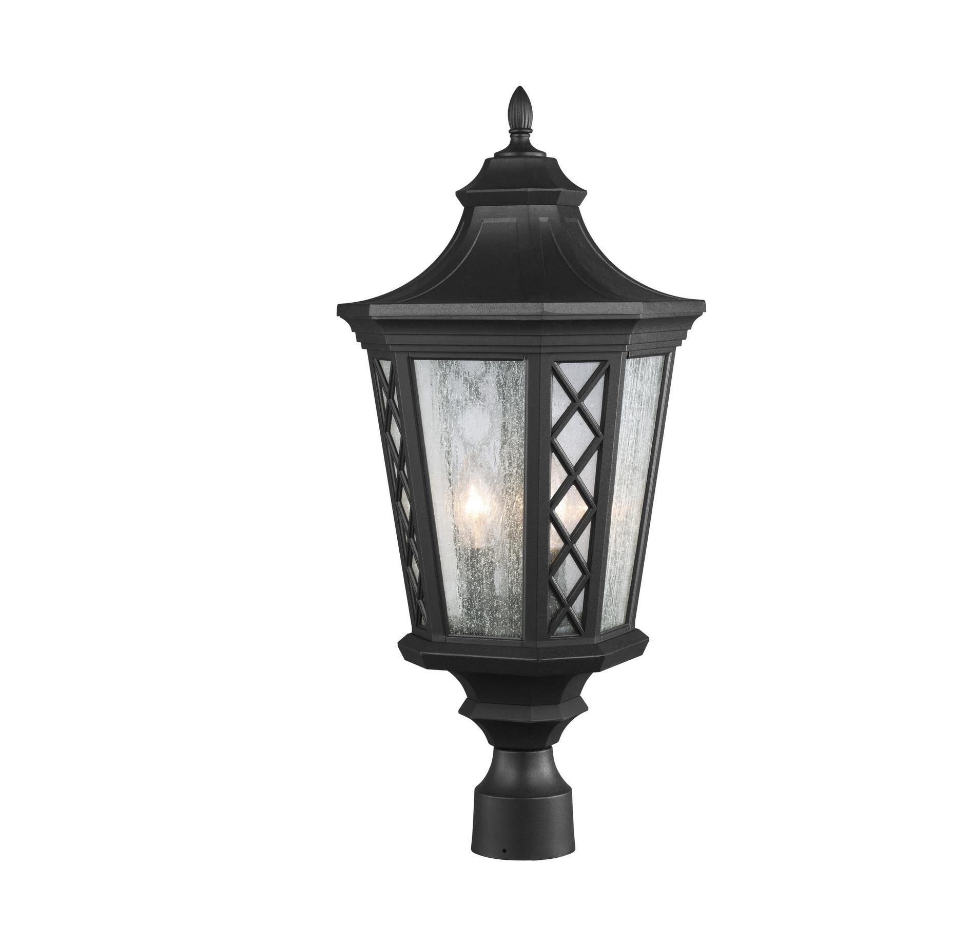 Feiss Ol9508Txb Wembley Park 3-Light Textured Black Outdoor Lantern with Outdoor Lanterns on Post (Image 4 of 20)