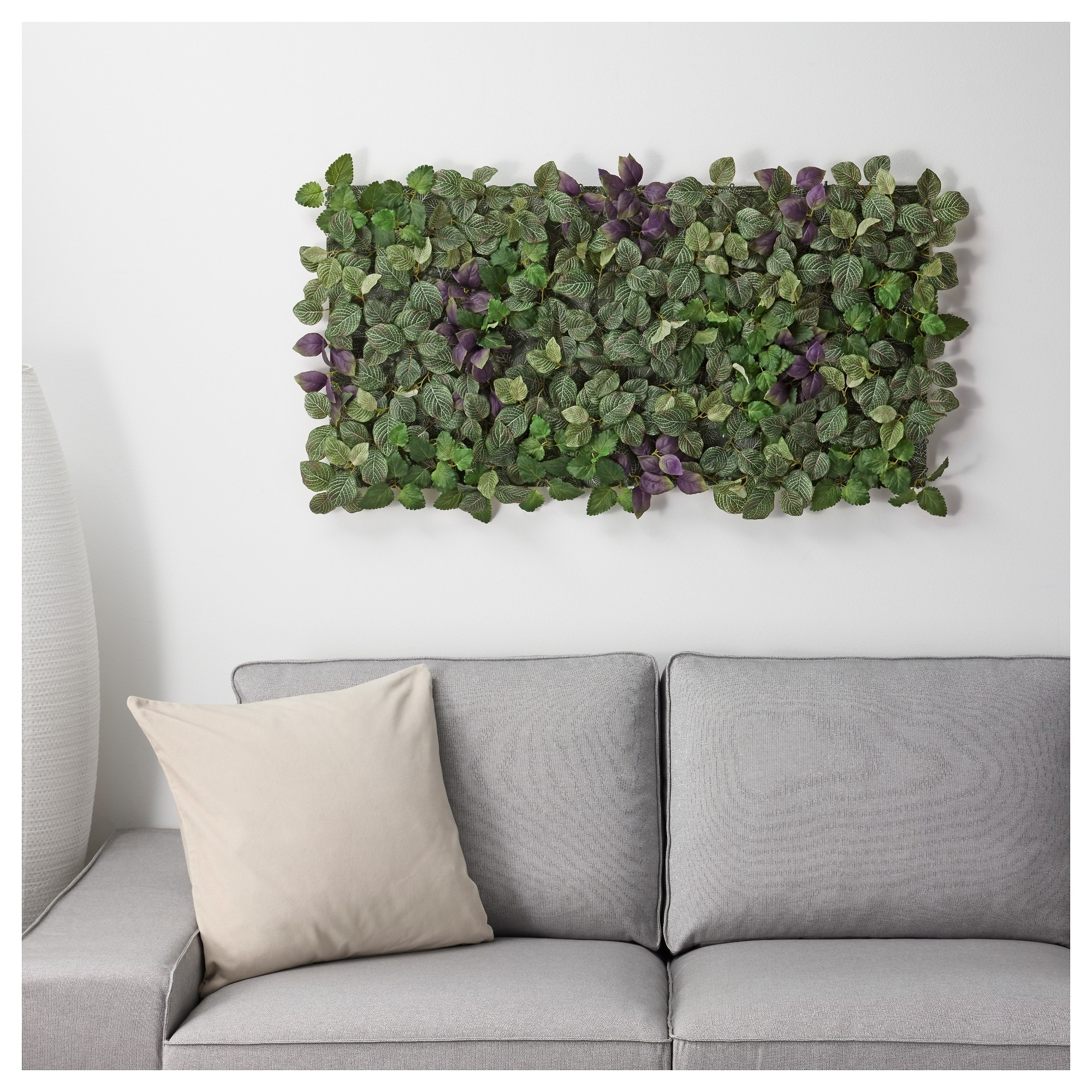 Fejka Artificial Plant Wall Mounted/in/outdoor Green/lilac 26 X 26 pertaining to Ikea Wall Art (Image 6 of 20)