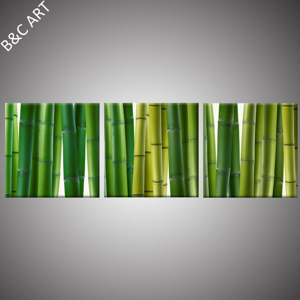 Fiber Optic Wall Art Canvas Panel Painting Bamboo Canvas – Buy Intended For Bamboo Wall Art (View 7 of 20)
