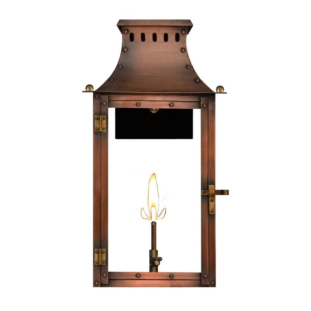 Filament Design Amelia 1-Burner 21 In. Copper Outdoor Natural Gas for Outdoor Propane Lanterns (Image 8 of 20)