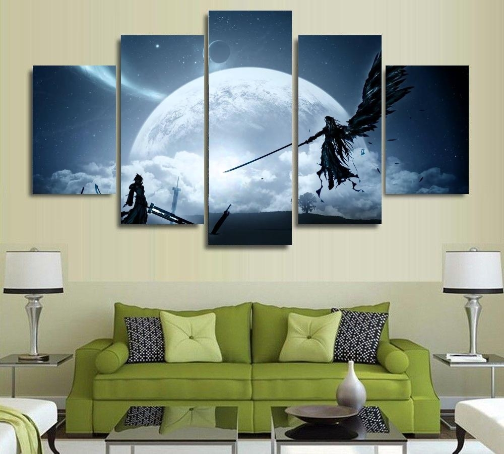 Final Fantasy Vii – 1,3,4,5 Panels Canvas Wall Art – Weplay Geek Intended For 4 Piece Wall Art (View 18 of 20)