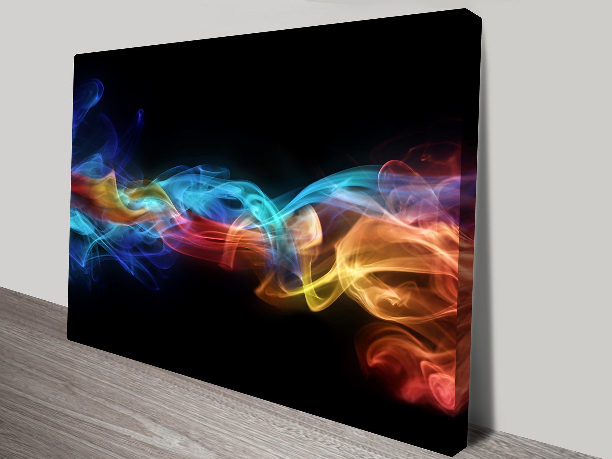 Fire & Ice Flames Abstract Canvas Wall Art Pictures & Posters Australia within Abstract Canvas Wall Art (Image 11 of 20)