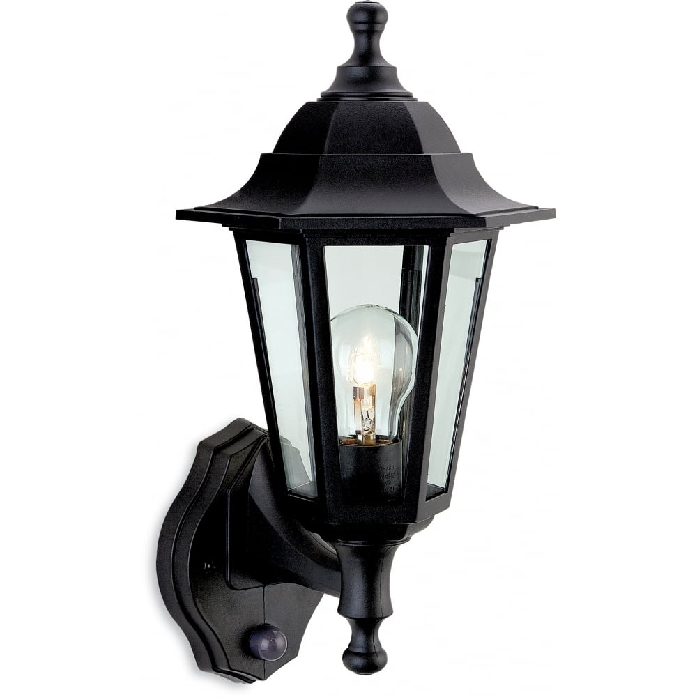 Firstlight 8401Bk Malmo Lantern - Uplight With Pir | Ideas4Lighting regarding Outdoor Lanterns With Pir (Image 8 of 20)