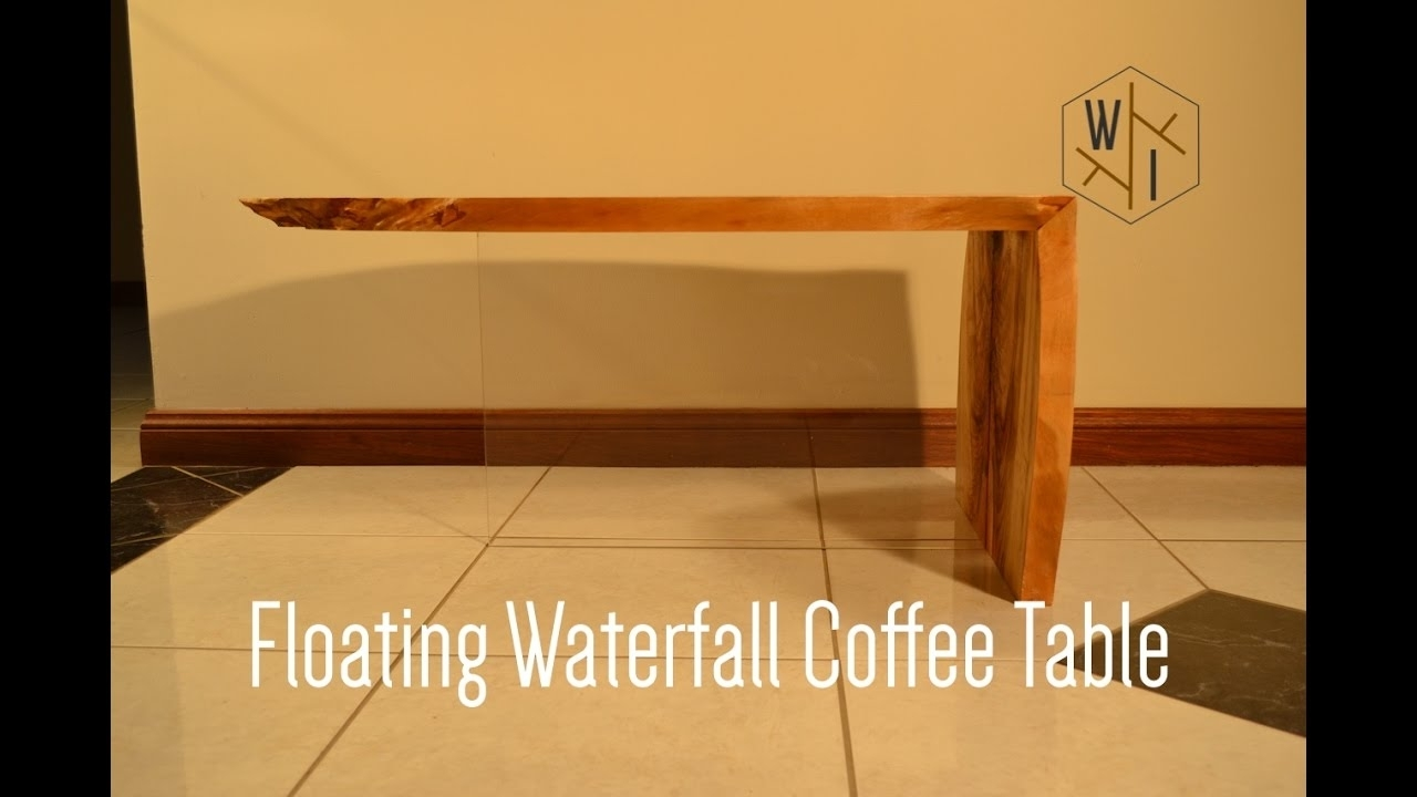 Floating Waterfall Coffee Table - Youtube for Waterfall Coffee Tables (Image 11 of 30)