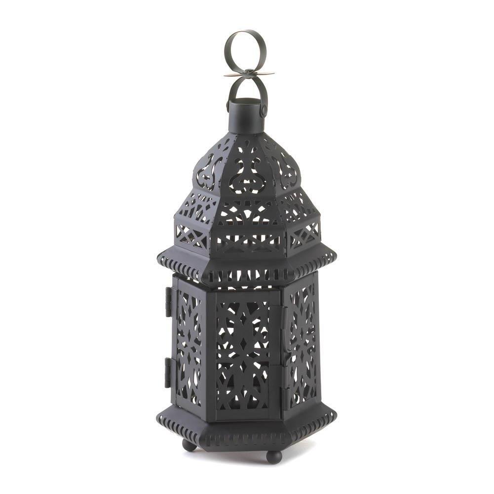 Floor Lanterns, Moroccan Hanging Metal Decorative Patio Lantern with Outdoor Iron Lanterns (Image 6 of 20)
