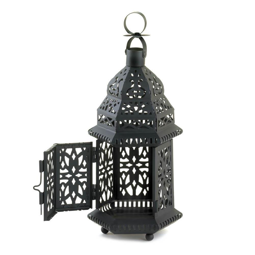 Floor Lanterns, Moroccan Hanging Metal Decorative Patio Lantern with regard to Outdoor Decorative Lanterns (Image 6 of 20)