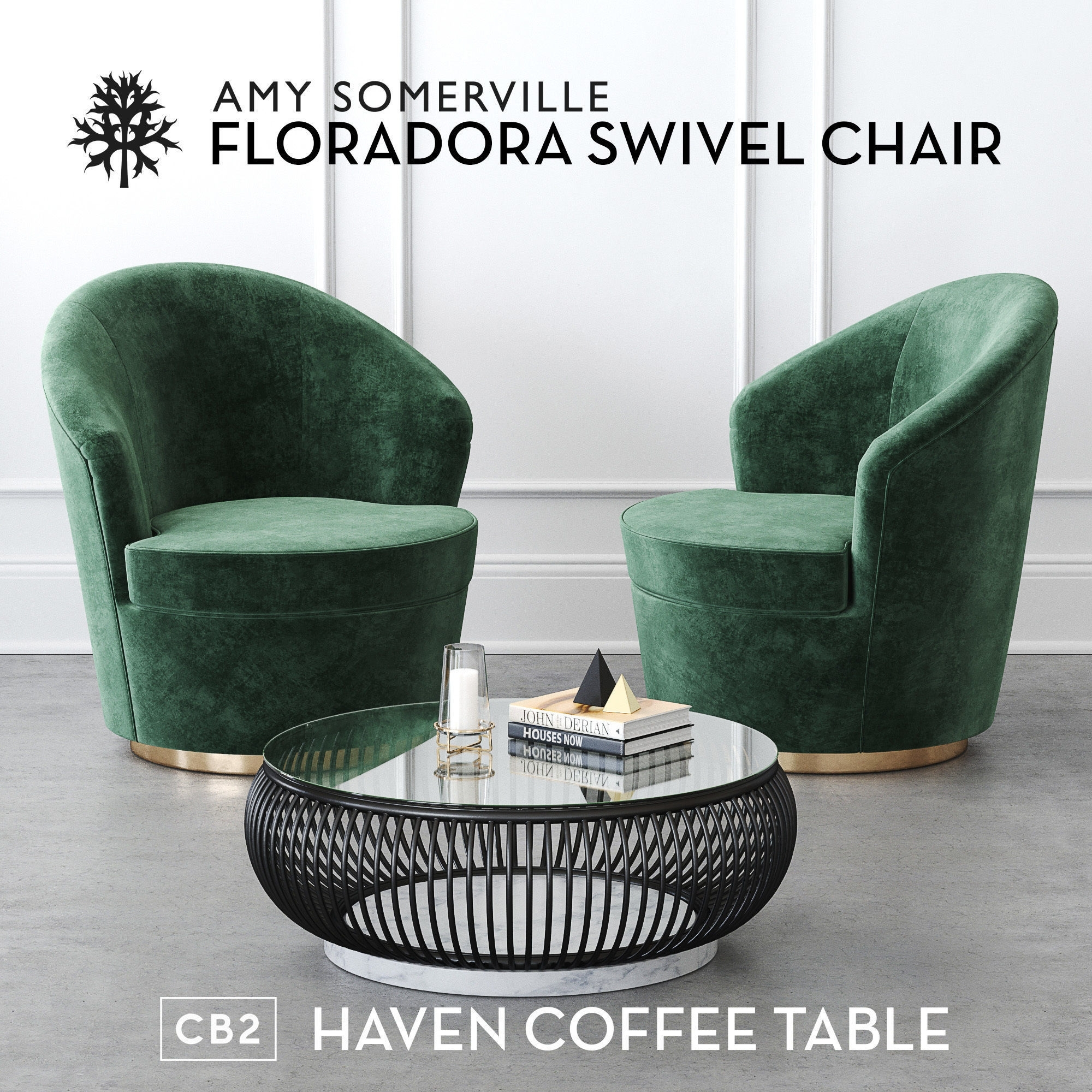 Floradora Swivel Chair With Cb2 Haven Coffee Table 3D pertaining to Haven Coffee Tables (Image 10 of 30)