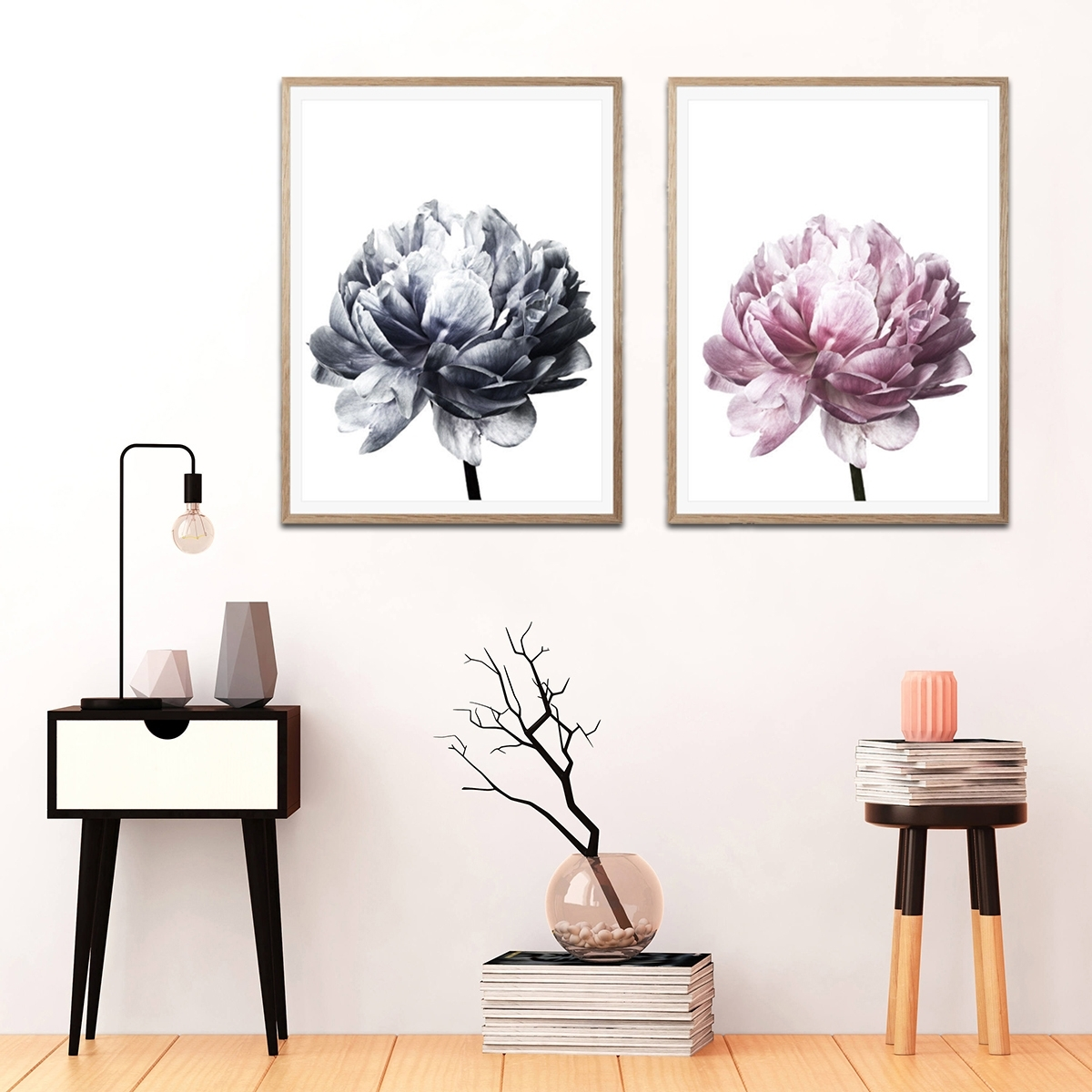 Flower Modern Wall Art Canvas Painting Picture Home Decor Mural for Modern Wall Art (Image 9 of 20)